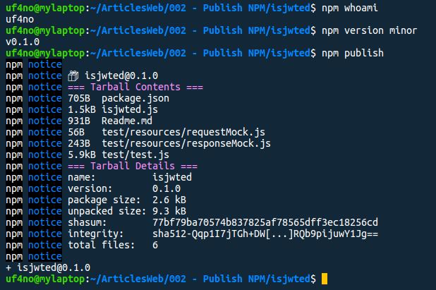 NPM update package